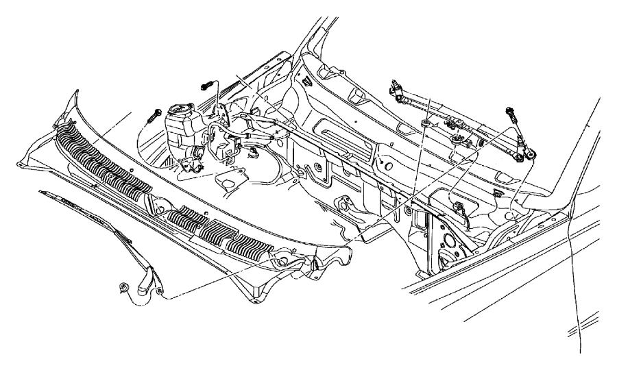 2002 dodge ram 2500 van front washer pump  pump  rear