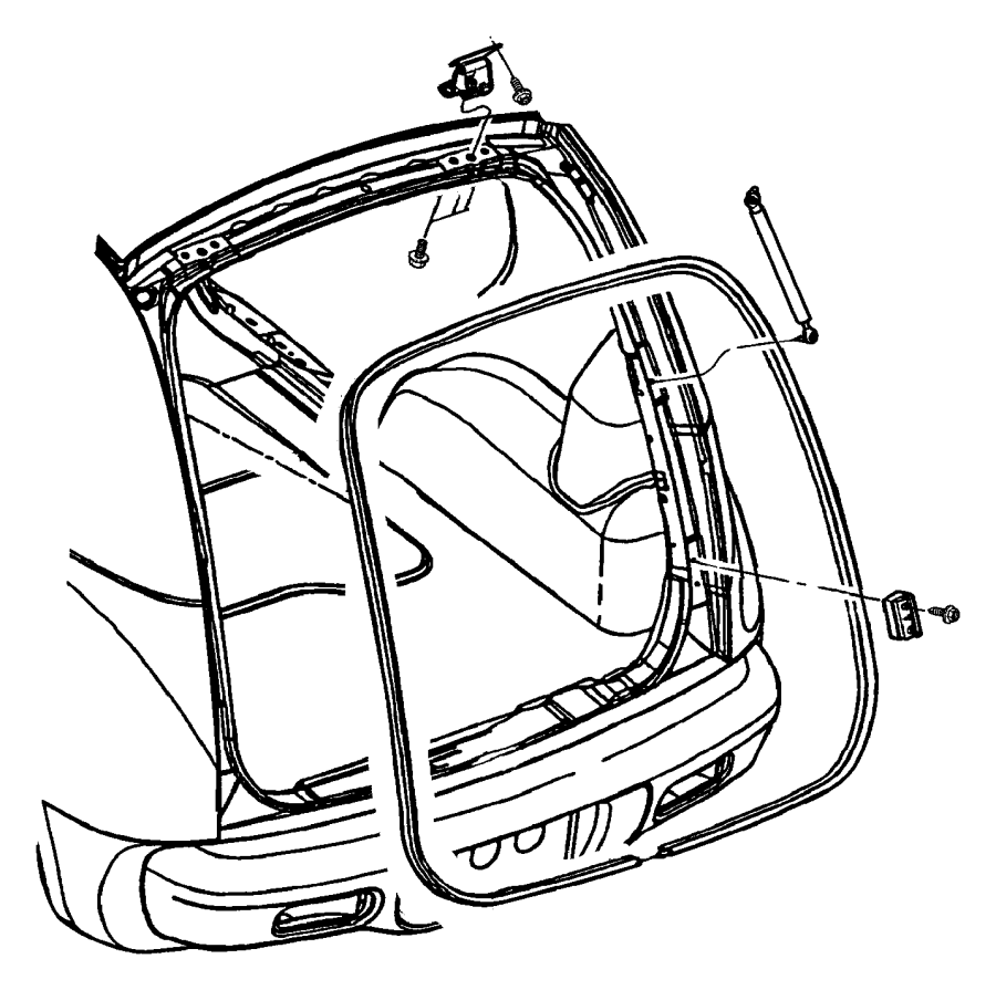 2008 Toyota Sienna Sliding Door Parts Diagram also 04589630AC in addition Dodge Durango Spare Tire Location additionally 05 Ford Explorer Rear Door Lock Diagram as well Cadillac Cts Suspension Diagram. on pt cruiser rear hatch diagram