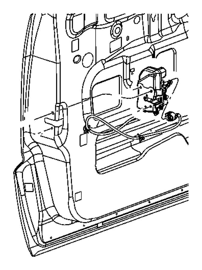 2006 Dodge Durango Door Latch Bolt Door Latch Screw Handle Outside Screw Interior Door