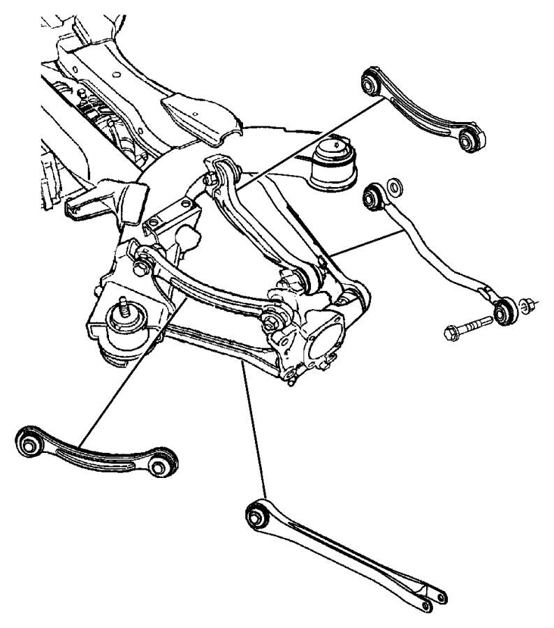 2004 chrysler pacifica rear suspension parts