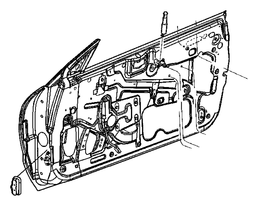 2007 dodge ram door latch diagram