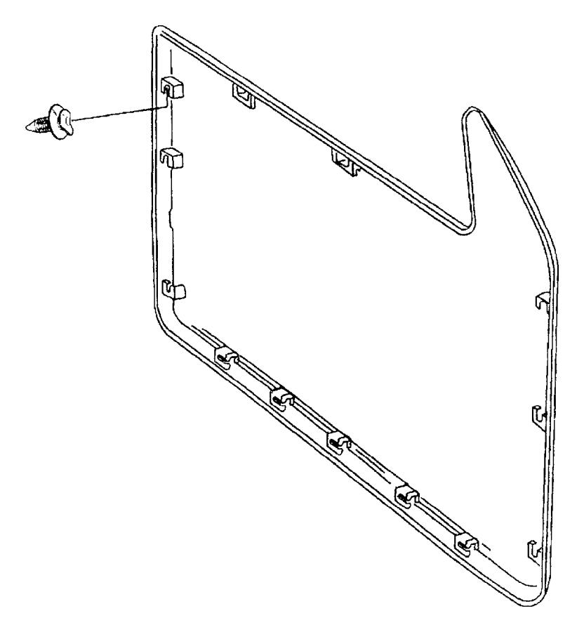 1997 Dodge Ram 2500 Door Interior Trim Panel Retainer
