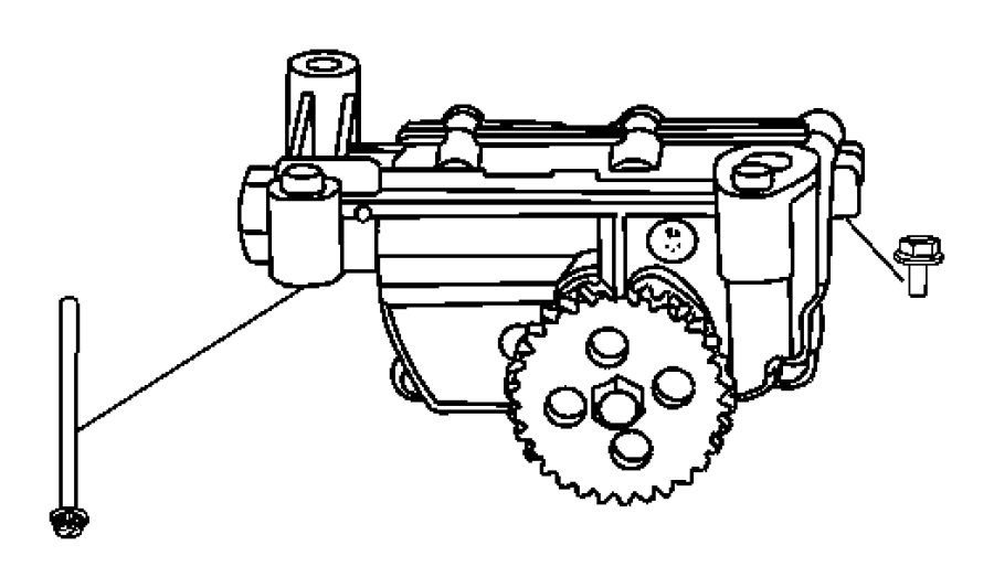 2008 dodge caliber engine oil pump  oil pump