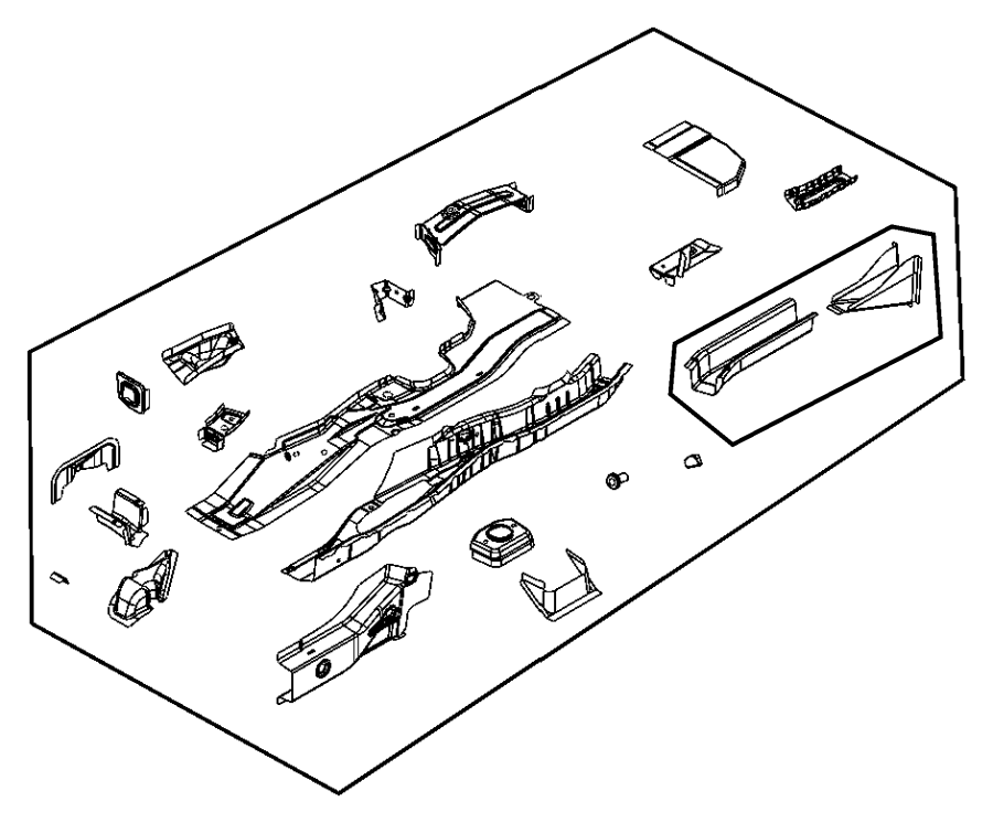 dodge caliber rear bumper diagram