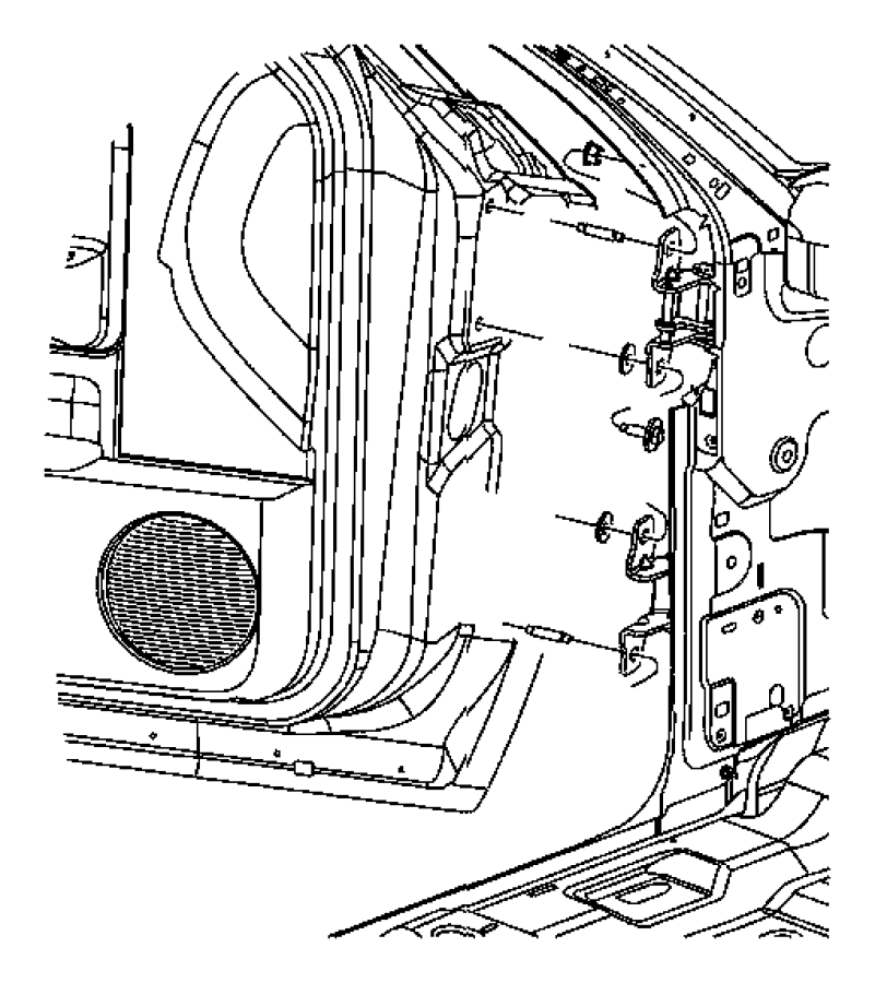 dodge door hinge diagrams