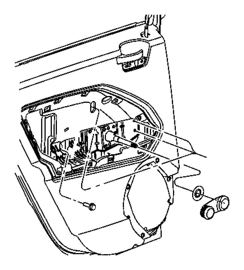 2011 Dodge Caliber Door Interior Trim Panel Retainer Door Interior Trim Panel Screw Door