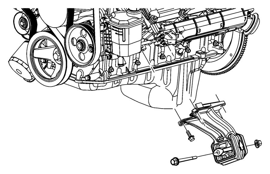 2012 ram 2500 bumper nut  engine mount  motor mount nut