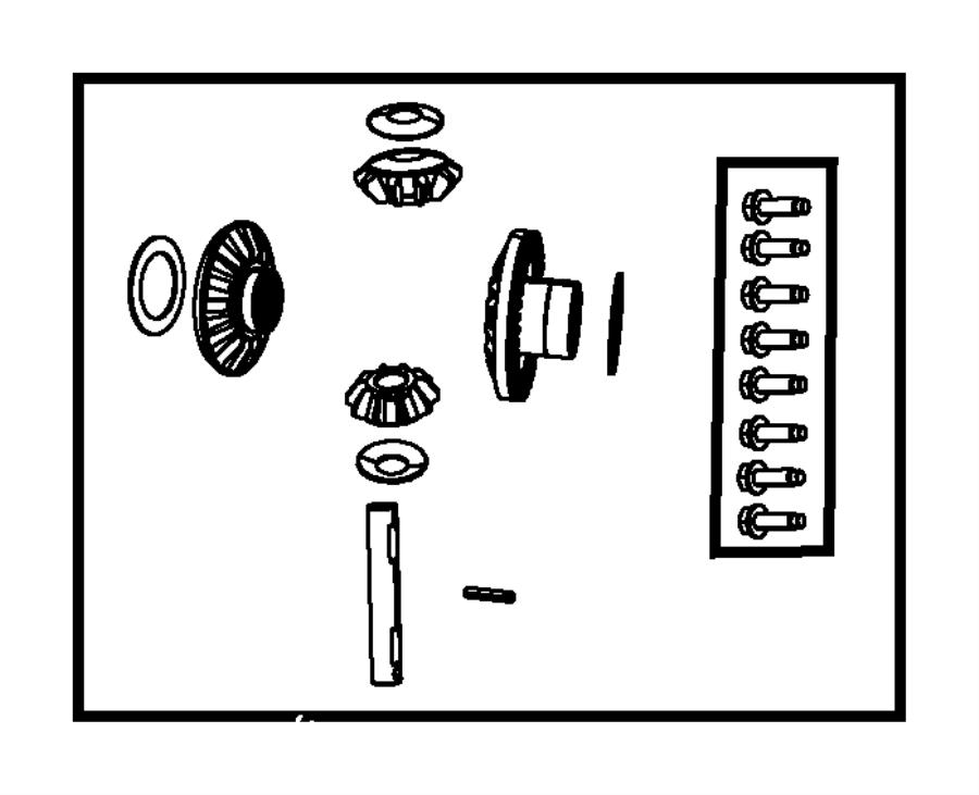 2007 dodge nitro front axle diagram