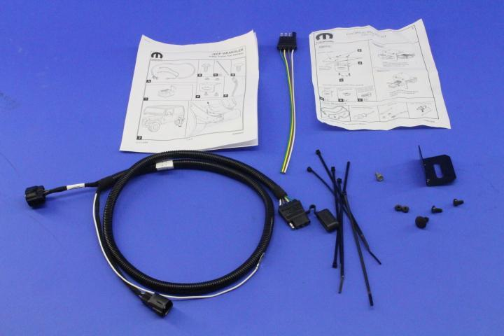 2006 Jeep Wrangler Trailer Tow Wire Harness Kit  With 4