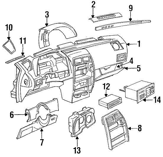 dodge ramcharger body parts diagram