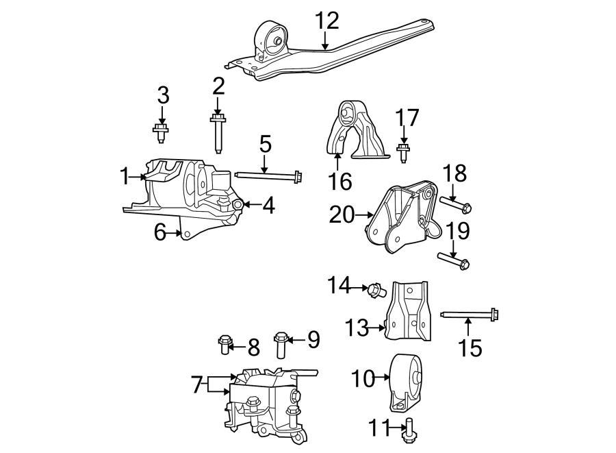 2008 dodge caliber engine mount support bracket insulator for 2008 dodge caliber motor mount location