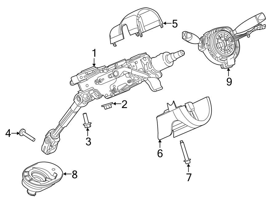 chrysler 200 steering column diagram