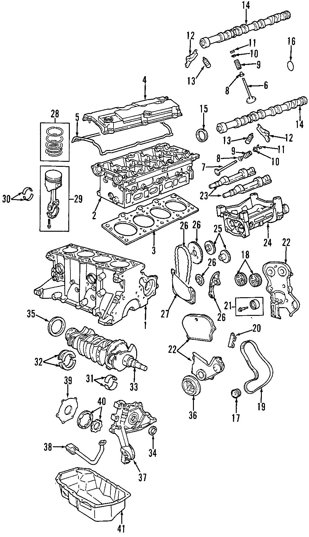 2004 Dodge Neon Bearings Engine Crankshaft Thrust Washer