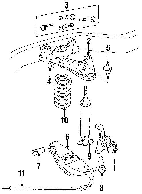 1989 Dodge D100 Suspension Control Arm  Upper Cntrl Arm