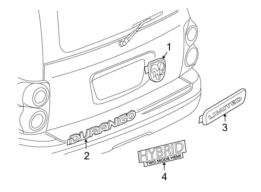 2004 dodge durango rear bumper parts diagram
