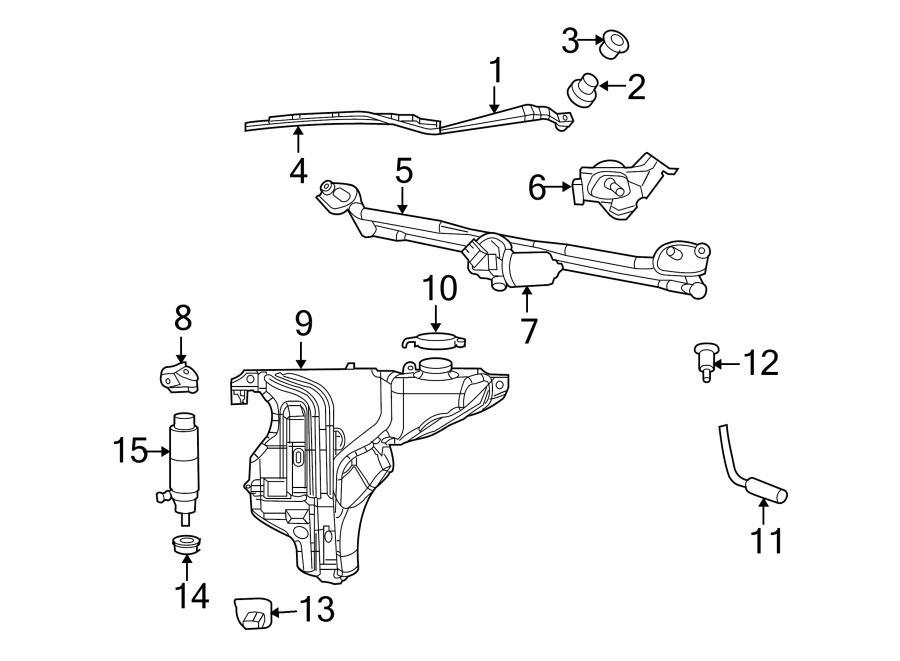 2011 chrysler 200 parts diagram windshield washer
