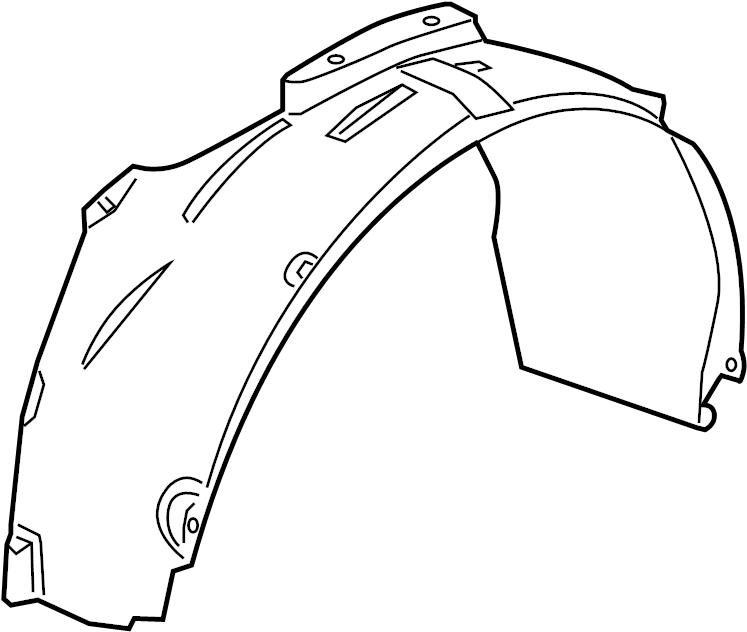 2009 dodge caliber fender liner  shield  splash