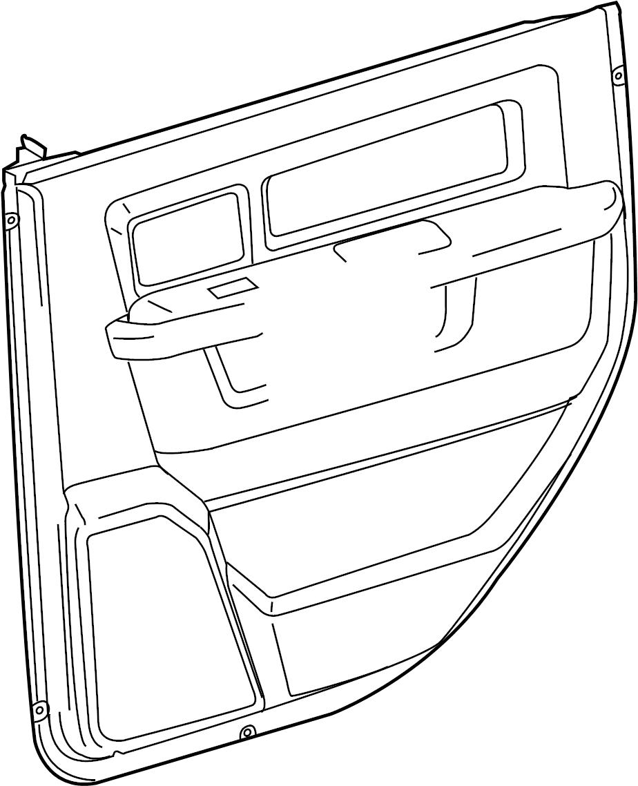 2012 Ram 1500 Door Interior Trim Panel Door Trim Panel Rear Right Inner Dodge Ram